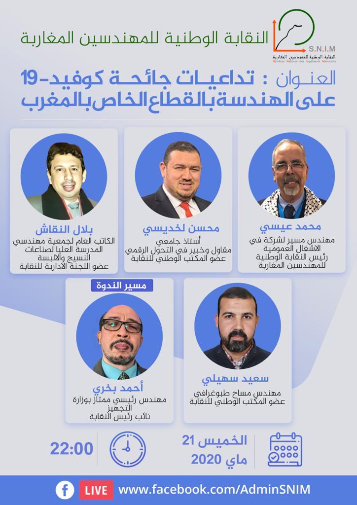 تداعيات جائحة كوڤيد-19 على الهندسة بالقطاع الخاص بالمغرب